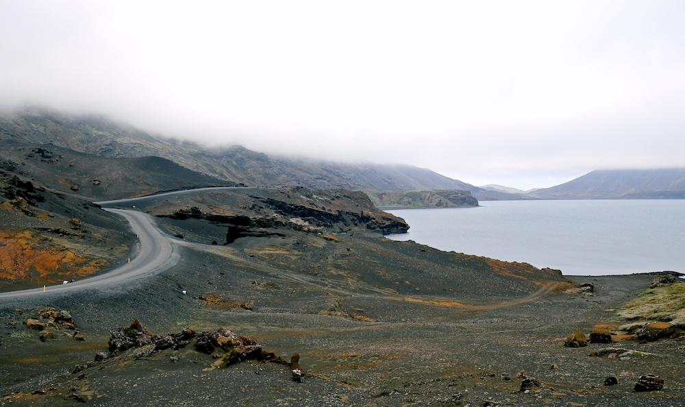 Kleifarvatn, Reykjanes, paysages, volcan, Islande