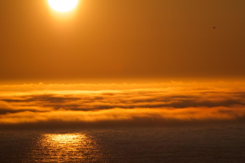 Coucher de soleil, paysages, Latrabjarg, Islande