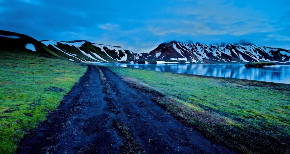 Lac, Landmannalaugar, paysages, Islande