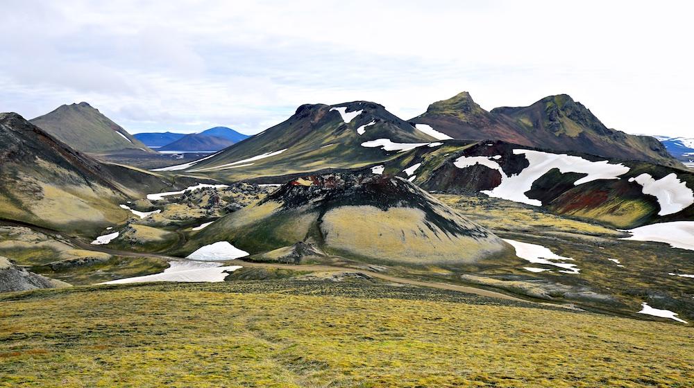 Stutur, cratere, Nordunamur, paysages, Islande