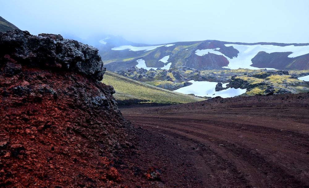 F208, paysages, Frostastadavatn, Landmannalaugar, Islande