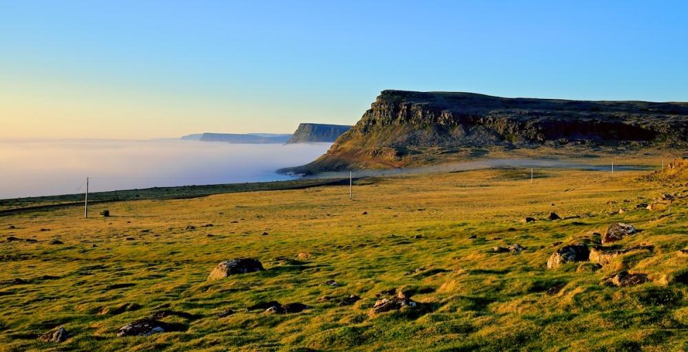 brume, Latrabjarg, paysages, Islande
