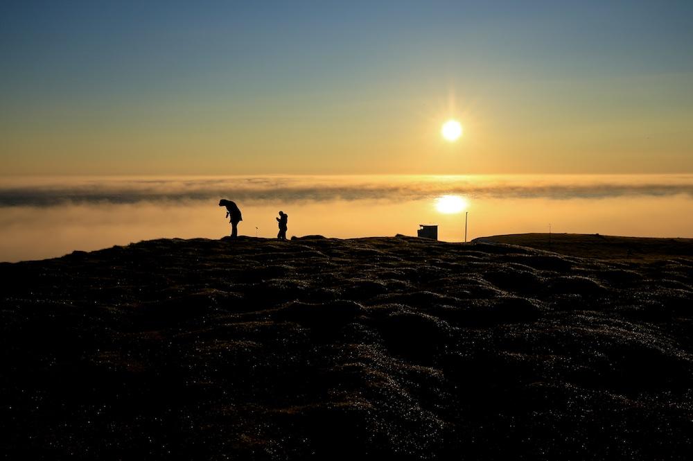 Coucher de soleil, Islande, Latrabjarg, paysages