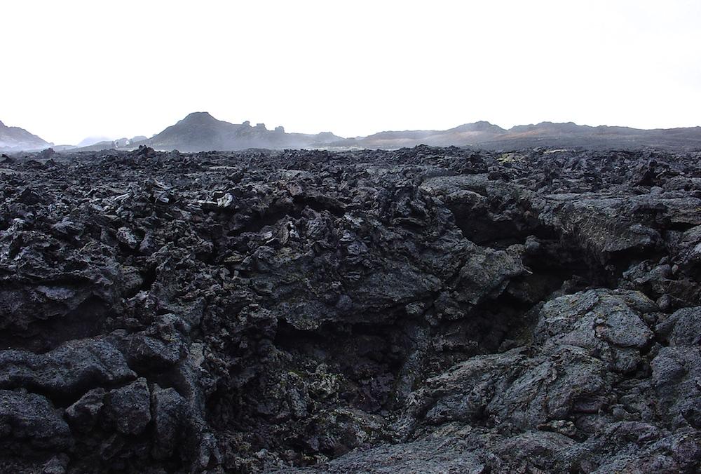 Leirhnjukshraun, lave, Islande, paysage