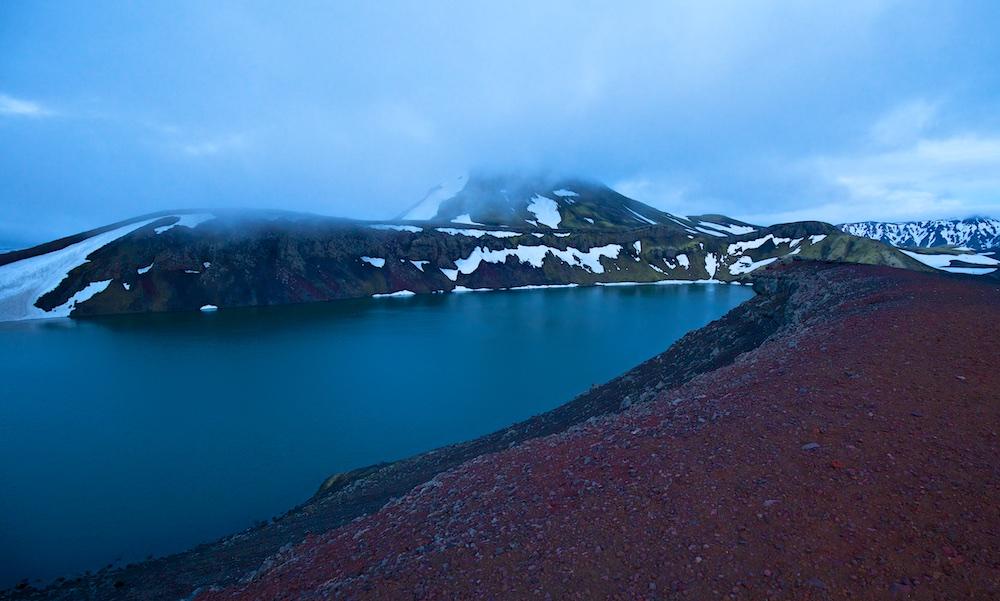 Ljotipollur, lac, cratere, Islande