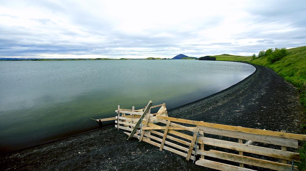 Myvatn, plage, paysage, Islande