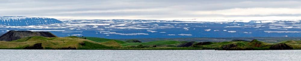 Myvatn, Islande, paysages, pseudo-cratères