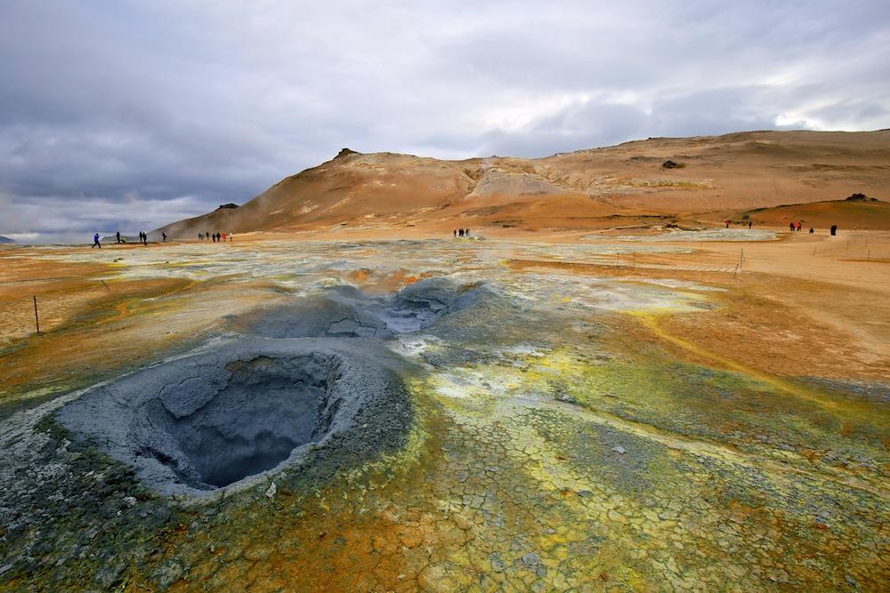 Mare de boue, soufre, Hverir, Islande