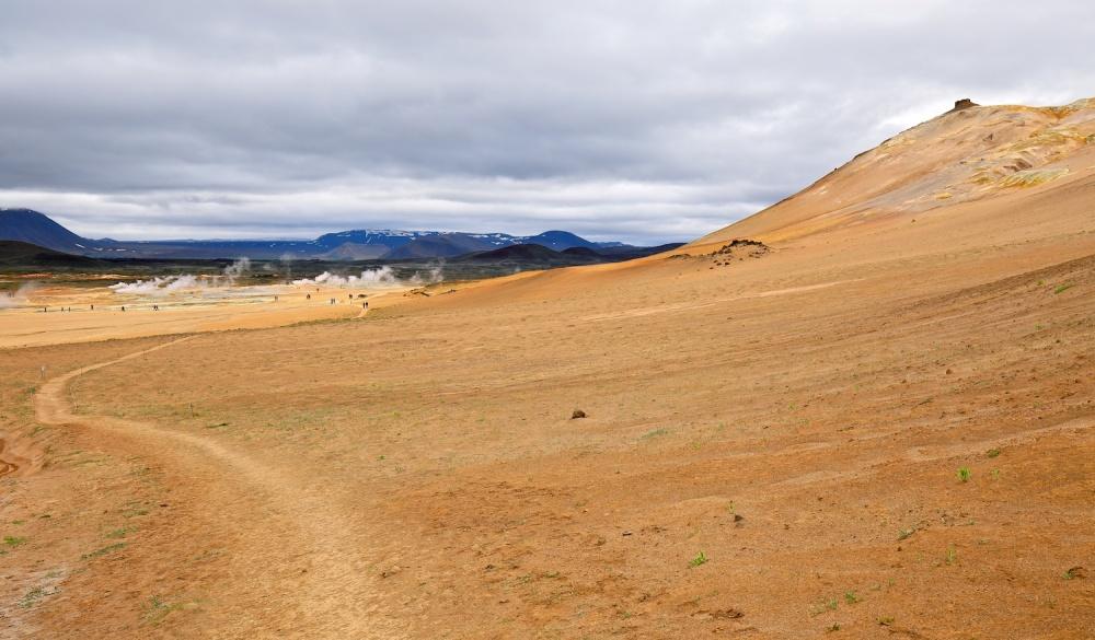 Namajfall, Hverarond, soufre, montagne, Islande