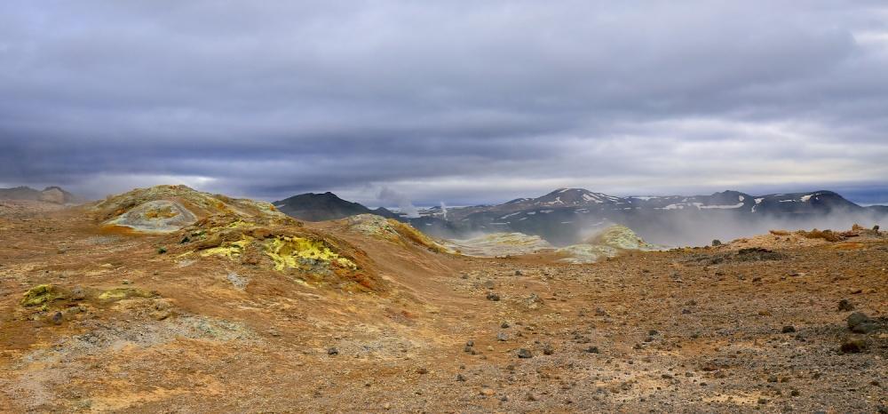 Namajfall, soufre, fumerolles, sommet, paysages, Islande