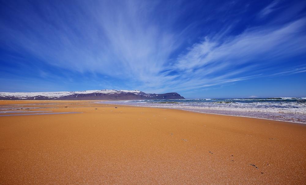 plage, Islande, paysages, Raudisandur