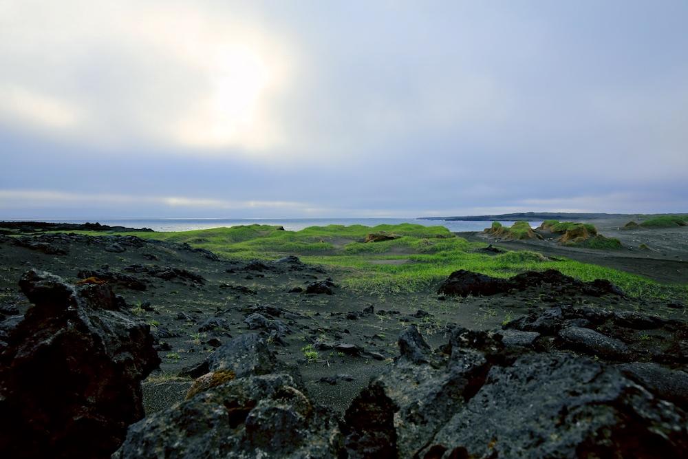 lave, océan, paysages, Reykjanes, Islande