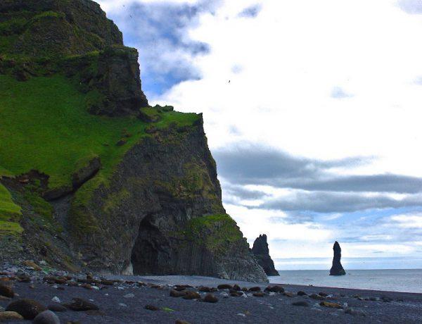 Reynisfjara, Reynisdrangar, paysages, plage, Islande