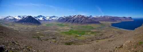 Sandafell, Thingeyri, aeroport, Islande