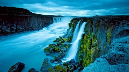 Selfoss, cascade, paysages, Islande