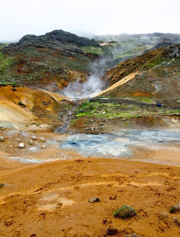 Seltun, Krisuvik, paysages, Islande