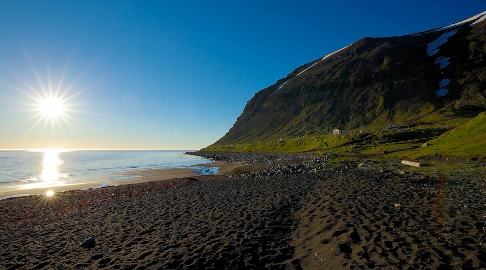 skalavik, baie, Islande