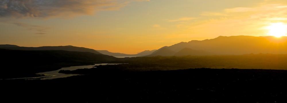 snaefellsnes, coucher de soleil, paysage