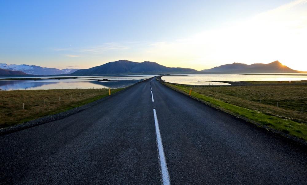 Kolgrafafjordur, coucher de soleil, Islande