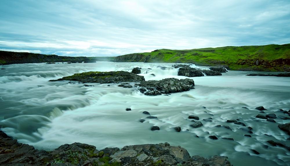 Urridafoss, cascade, Islande