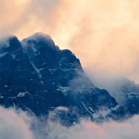 Canadian Rockies, Canada, nature, paysages, montagne, nuages
